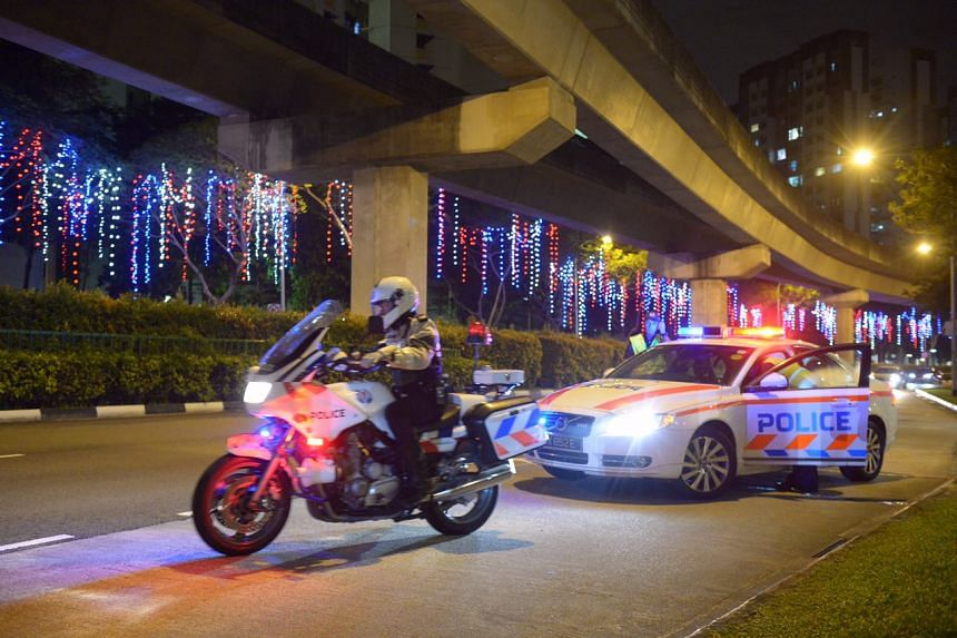 Traffic police officers conducted patrols at more than five areas islandwide on Dec 20.