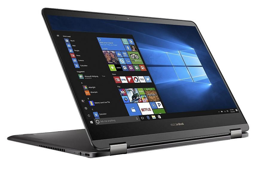 Taiwanese PC maker Asus touts the ZenBook Flip S, which is just under 11mm thick, as the world's thinnest 13.3-inch convertible.