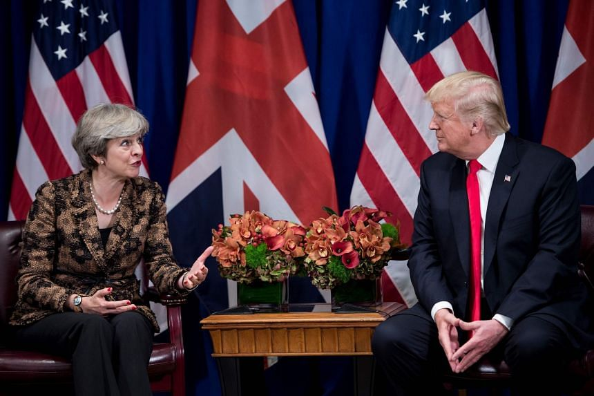 May and Trump meeting on the sidelines of the UN General Assembly.in November 2017.