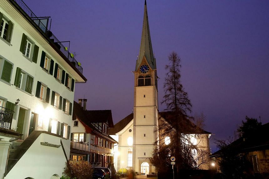 The Protestant Reformed Church in Waedenswil, Switzerland, on Dec 13.