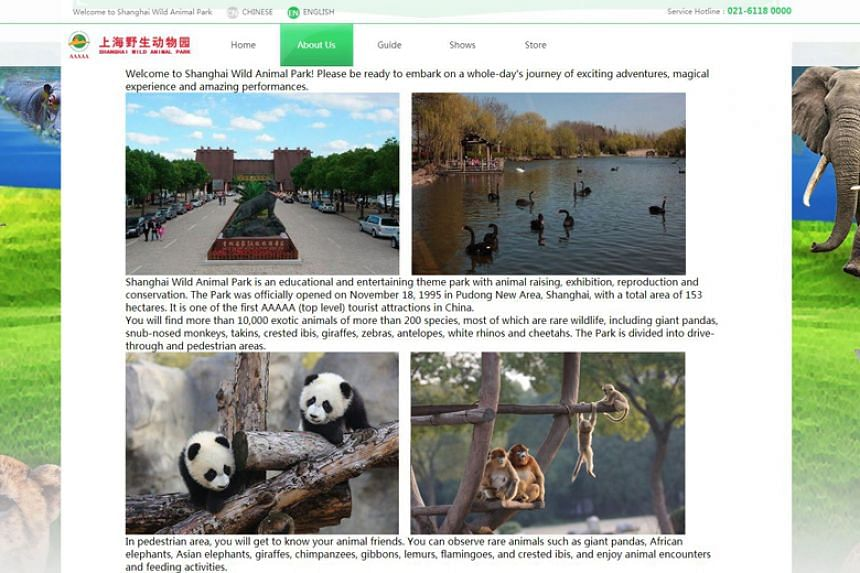 After reports of poor translations found on the website of Shanghai Wild Animal Park (above), netizens have brought up other cases they have discovered in popular tourist destinations in the city.