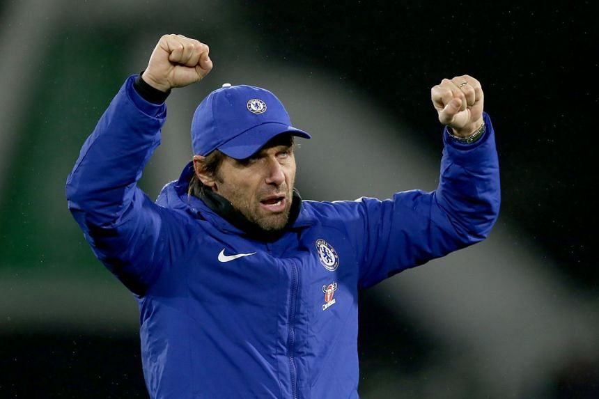 Conte (above) has often spoken of the difficulties of balancing the demands of the hectic fixture schedule with his small squad.