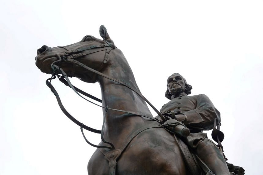 The statue of Confederate general and early member of the Ku Klux Klan, Nathan Bedford Forrest, in Memphis has since been removed.
