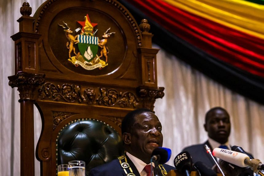 Mnangagwa delivers his state of the nation address at a joint sitting of the parliament and senate in Harare.
