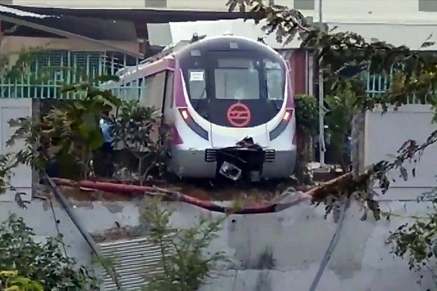 According to Delhi Metro, the train was moved from the workshop without testing the brake system. As a result, while it was moving up the ramp, the train rolled back and hit the adjacent boundary wall.