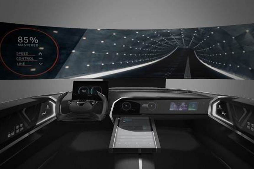 A rendering of Hyundai's connected car cockpit to be displayed at the Consumer Electronics Show in Las Vegas in January.