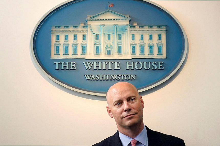 White House Director of Legislative Affairs Marc Short speaks during a press briefing at the White House.