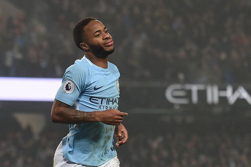 A man has been identified and jailed over hate crime directed at Manchester City forward Raheem Sterling (above).