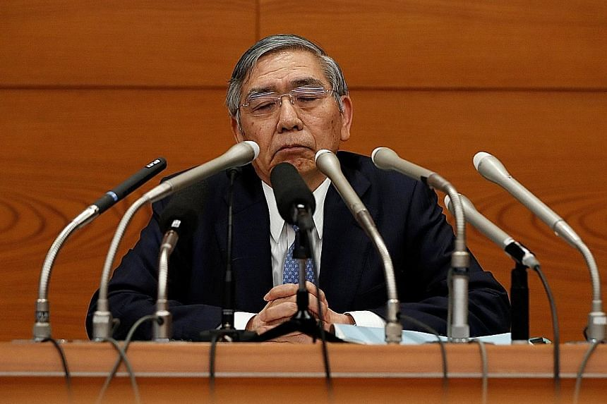 """Bank of Japan Governor Haruhiko Kuroda stressed the need to """"patiently"""" maintain ultra-loose policy, with inflation still distant from the BOJ's 2 per cent target."""