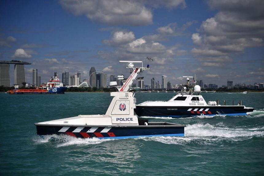 The Unmanned Surface Vessels can run autonomously and alert operators, who can take over the controls, when it detects suspicious activity.