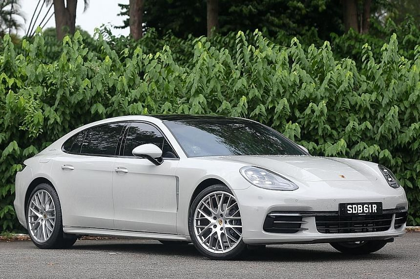 From top: Porsche Panamera Executive and BMW 730i.