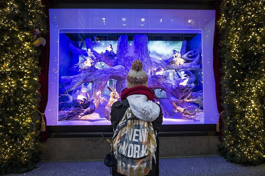 The holiday window display at Lord & Taylor's on Fifth Avenue in New York earlier this month.
