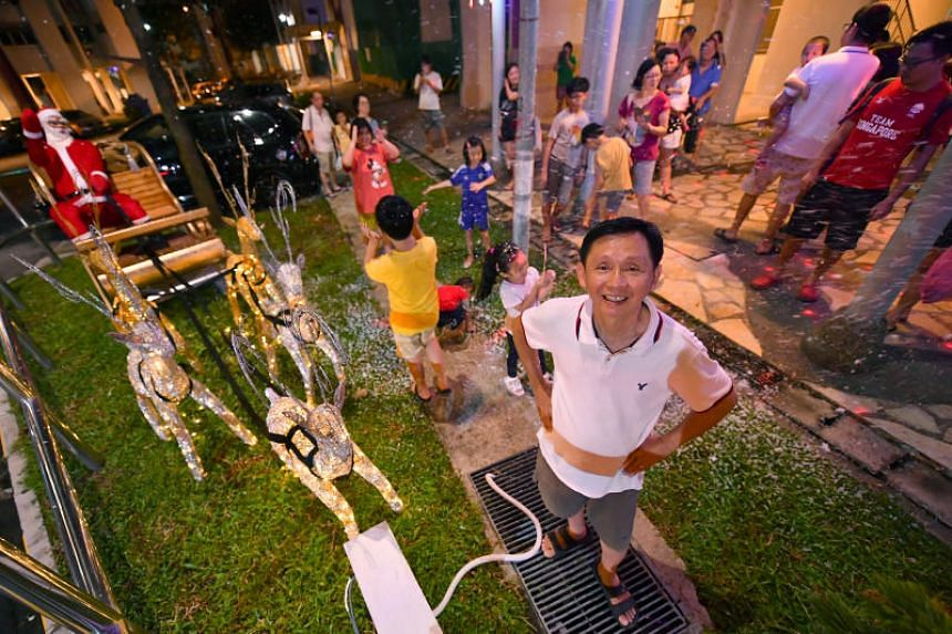 Carpenter Tan Koon Tat with his Christmas decorations at Woodlands Street 13, on Dec 23, 2017.