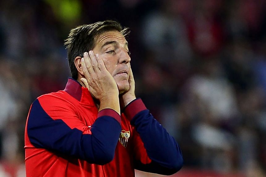 Berizzo (above) has been sacked a week after returning to work following surgery.