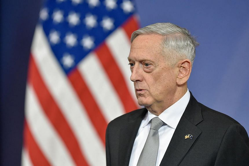 """US Defence Secretary James Mattis told the troops at Guantanamo Bay Naval Station that """"you all have to be ready to go"""" if diplomacy fails."""