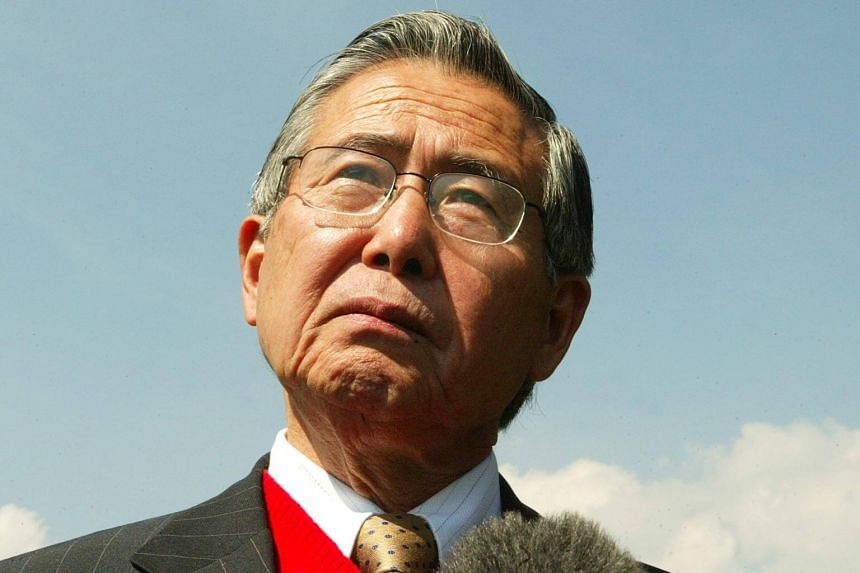 Peru's former president Alberto Fujimori was rushed from prison to a local hospital.