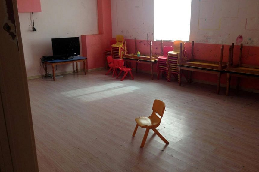 A room that used to house Sunday School classes is pictured at a church in Wenzhou, Zhejiang province, on Dec 18, 2017.