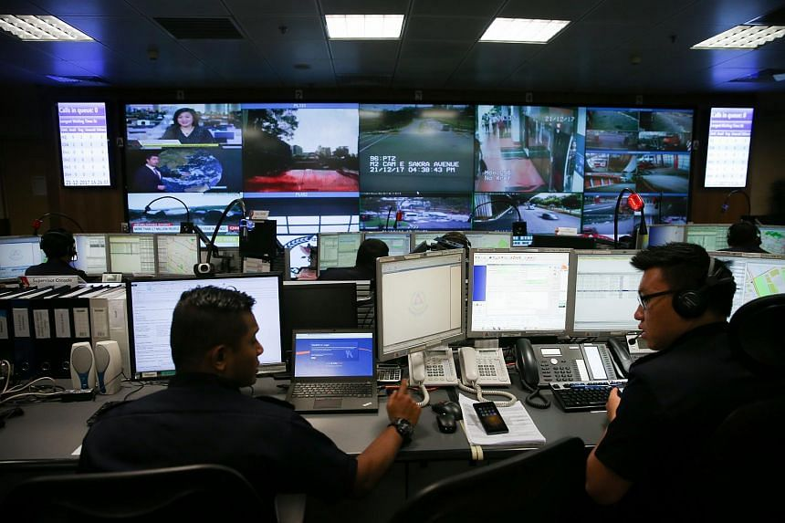 The SCDF Operations Centre, with its video screens showing footage from security cameras around Singapore, is the nerve centre of the force and its first point of contact for reports of any emergencies.