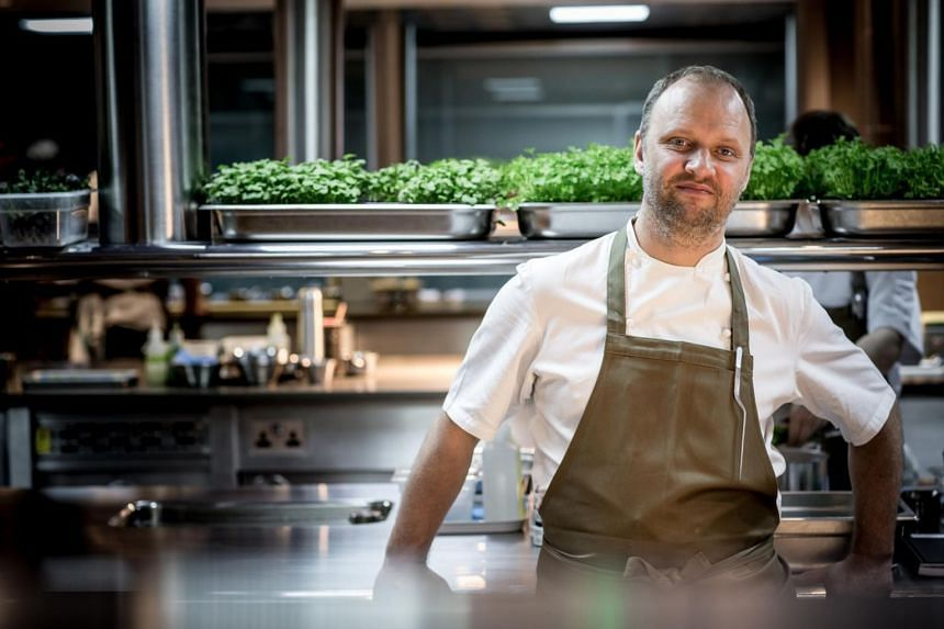 British chef Simon Rogan, who owns two Michelin-starred L'Enclume in Cartmel, England.