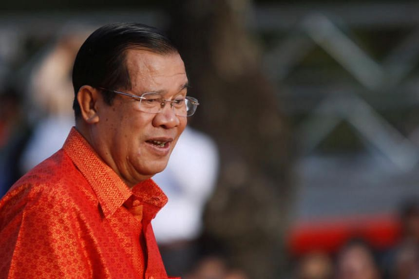 Cambodia's Prime Minister Hun Sen holds a ceremony at the Angkor Wat temple to pray for peace and stability in Cambodia, in Siem Reap province, Cambodia on Dec 3, 2017.