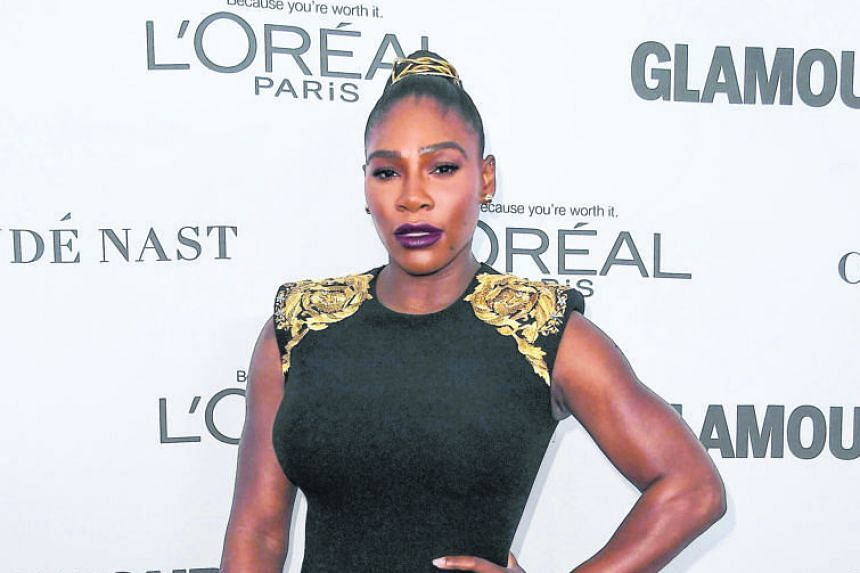 Serena Williams looking in good shape at Glamour's 2017 Women of The Year Awards at Kings Theatre in Brooklyn last month, two months after giving birth. She is set to defend her Australian Open title next month in Melbourne.