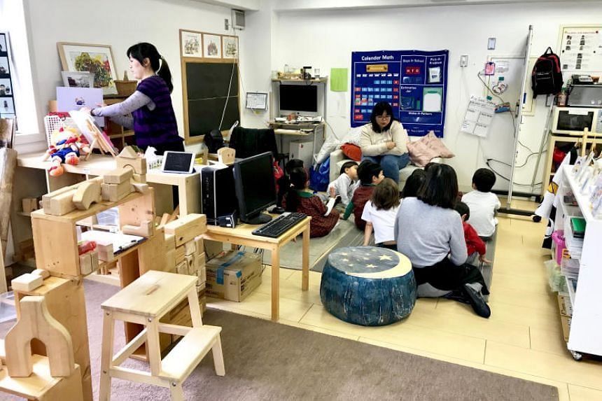 A class at EtonHouse Tokyo, which has plans for three more schools over five years. The school offers extended day care and language classes covering English, Japanese and Mandarin.