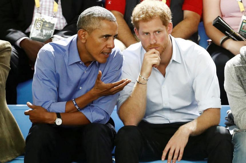 """Former US president Barack Obama said in an interview with Britain's Prince Harry that social media should promote diverse views in a way that """"doesn't lead to a Balkanisation of our society""""."""