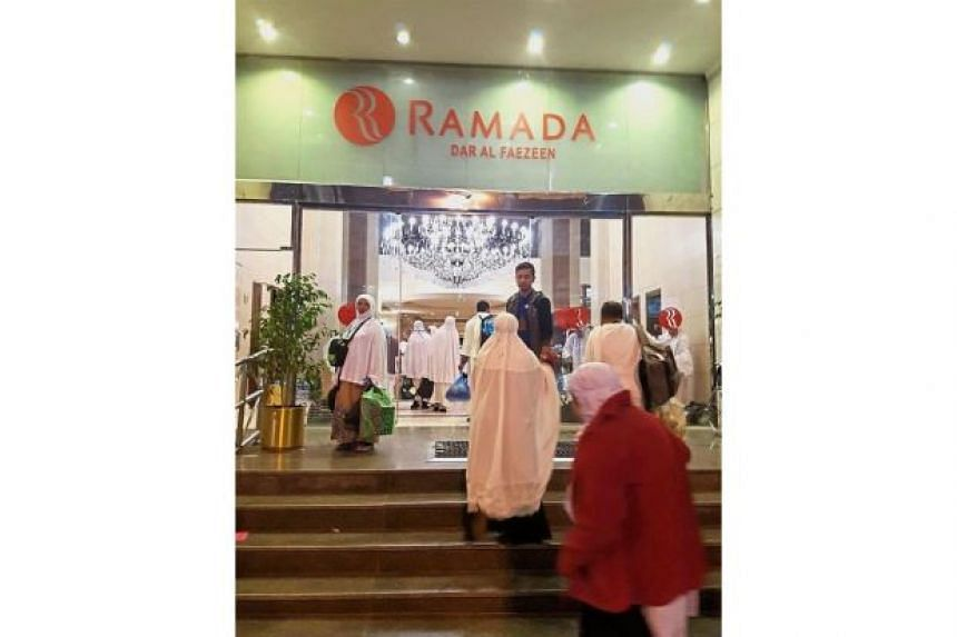 A pilgrim, Ms Izura, said they were shifted to the Ramada in Mecca their flight did not take place and on Dec 25, they moved to another hotel, slightly farther from Mecca.