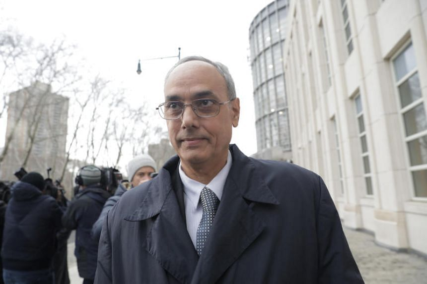 Former president of Peruvian Football Federation Manuel Burga, one of three defendants in the Fifa corruption trial, leaves the United States Federal Court in Brooklyn, New York, US on Dec 22, 2017.