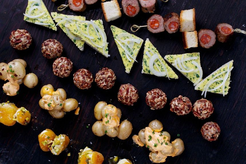These appetiser-size recipes are quick, easy, fun to look at and inexpensive to make. PHOTO: DEB LINDSEY