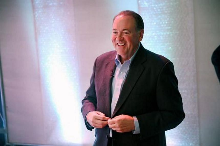 Former Arkansas Governor Mike Huckabee at a Republican event on April 25, 2015.