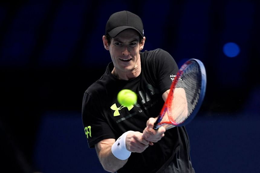 Britain's Andy Murray at the ATP World Tour Finals Preview in November 2017.