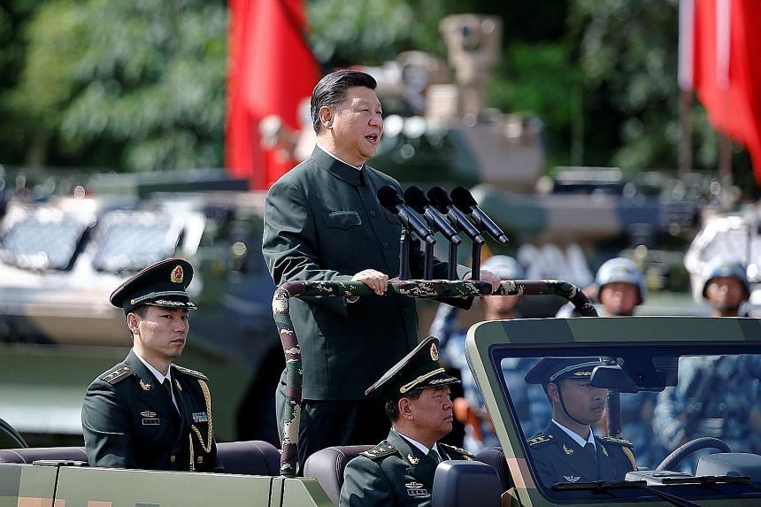 Mr Xi Jinping had his political thinking written into the party Constitution in October, making it hard for anyone to oppose his policies in the years to come. He also seeks to increase China's influence through his ambitious Belt and Road Initiative