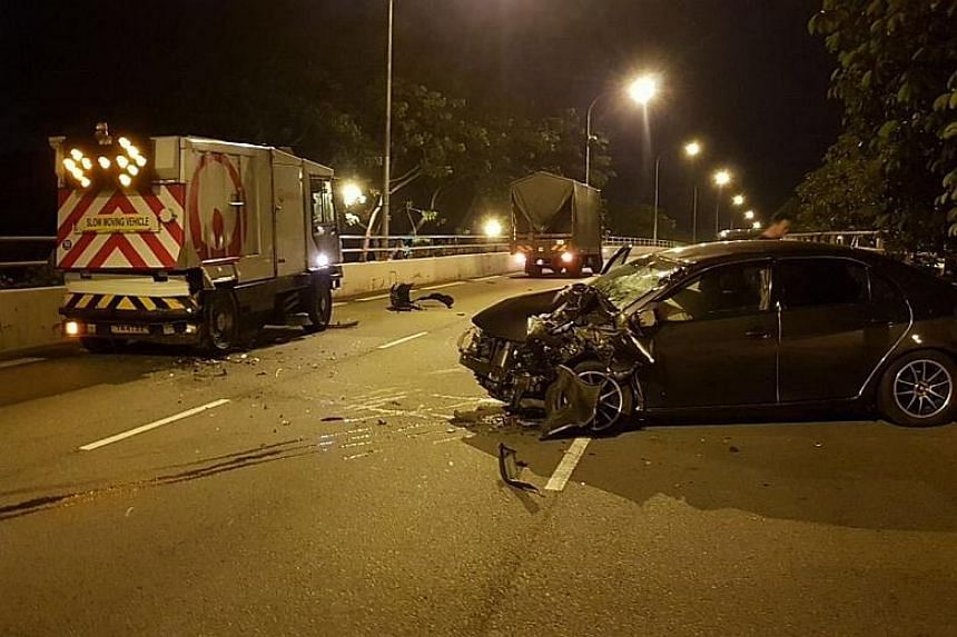 The accident occurred along Adam Road towards Farrer Road at 4.02am on Dec 28.
