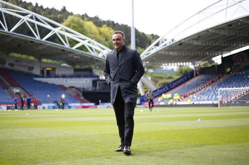 Then Sheffield Wednesday manager Carlos Carvalhal before the Championship play-off semi-final  first leg at John Smith's Stadium on May 14, 2017. The 52-year-old Portuguese replaces Paul Clement at EPL bottom club Swansea.