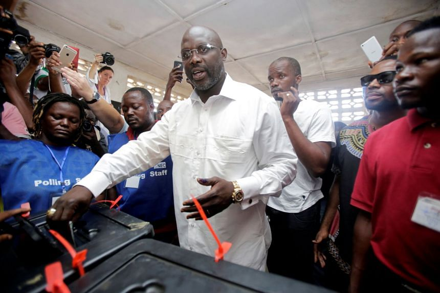 Unofficial partial results announced on local radio stations all showed presidential  candidate George Weah in the lead.