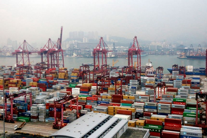 Container terminals at Kwai Chung district in Hong Kong. Sea freight processed in Hong Kong fell for a second straight month in November, making the city the only container port among the world's top five to report weaker traffic.