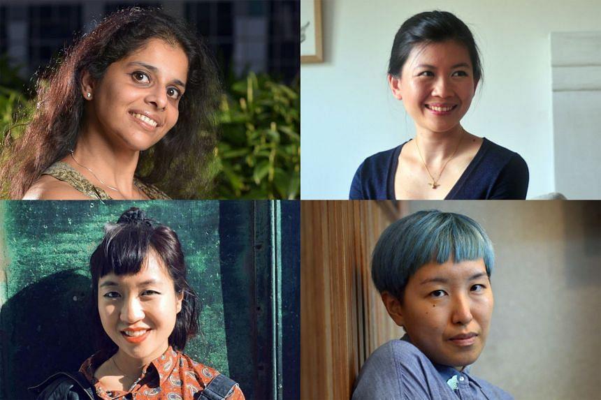 (Clockwise from left) Krishna Udayasankar, Rachel Heng, JY Yang and Sharlene Teo.