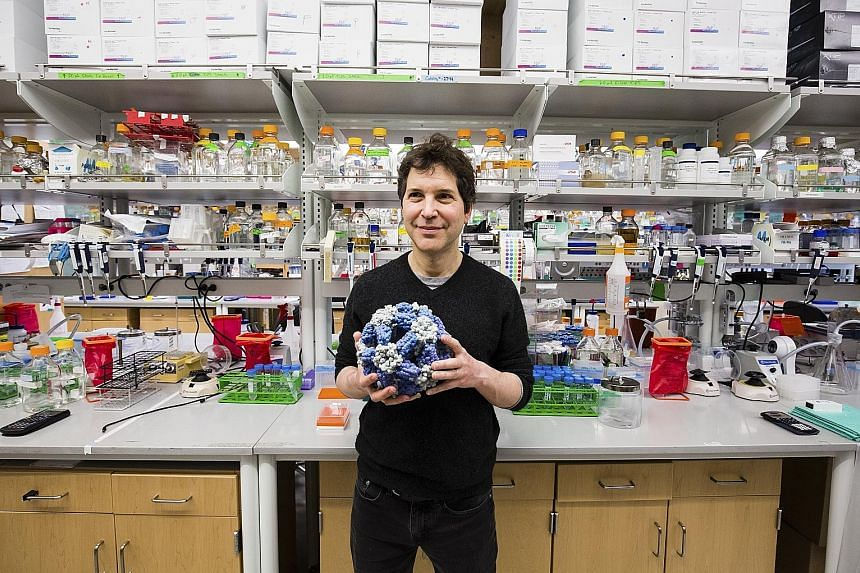 Dr David Baker in his lab at the University of Washington, where scientists are learning how to create cellular proteins to perform a variety of tasks.