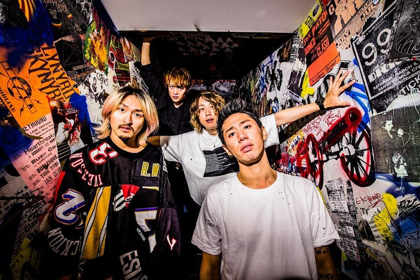 Members of Japanese band One OK Rock (from left) Ryota Kohama, Toru Yamashita, Tomoya Kanki and Takahiro Moriuchi want to stay close to their roots.