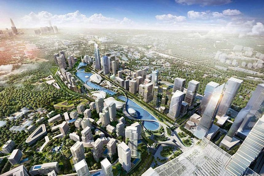 An artist's impression of the Bandar Malaysia development, a property project on the fringes of Kuala Lumpur that will house the terminus for the high-speed rail link between Singapore and Malaysia.