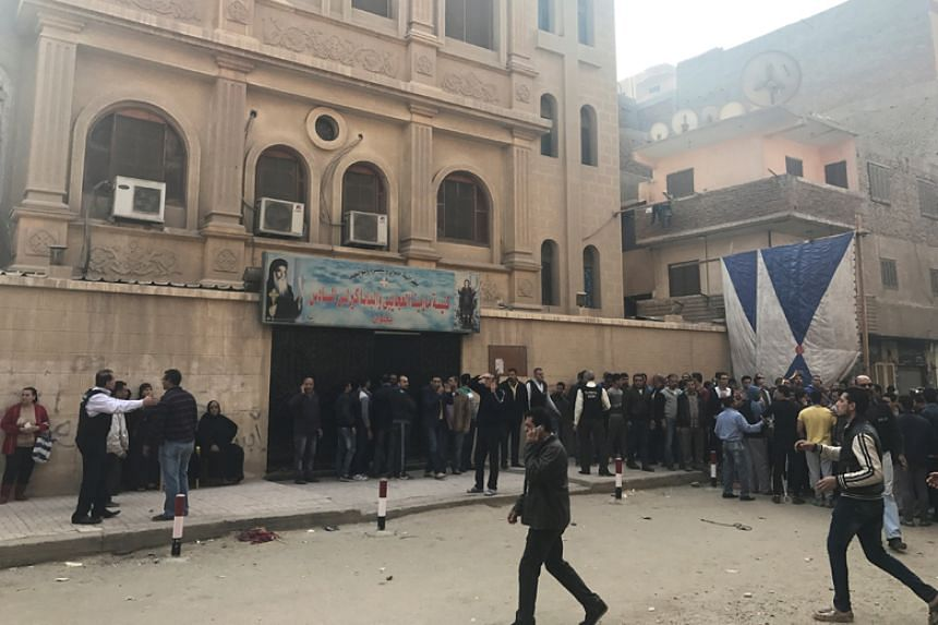 A gunman opened fire on the Mar Mina Church in Helwan district, on the outskirts of Cairo, on Dec 29, killing four people before he was shot dead by policemen.