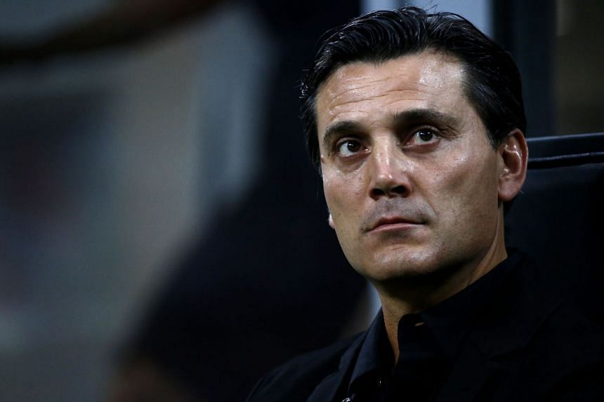 Montella (above) was sacked by AC Milan in November after just 17 months in charge.