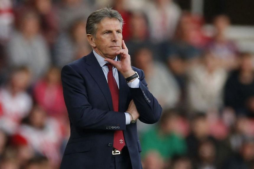 Claude Puel's (above) hopes may rest on the sort of defensive meltdown Liverpool suffered when they conceded three goals in five minutes at Arsenal.