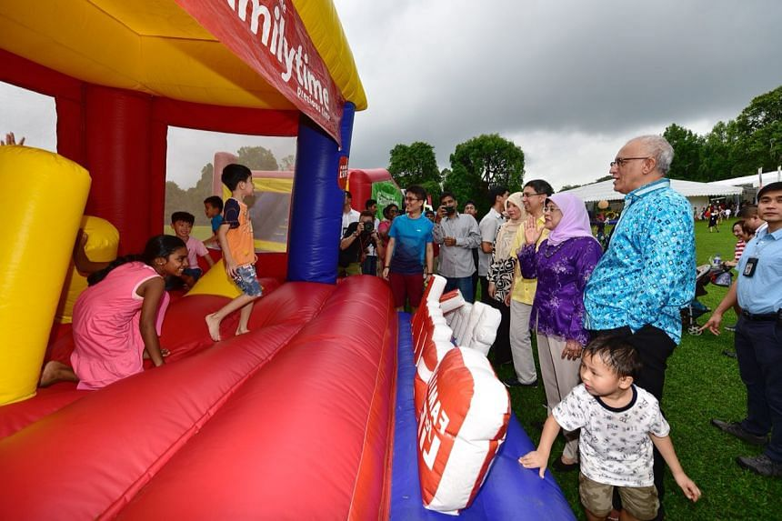 Children enjoying the facilities at the Families for Life picnic event at the Istana.
