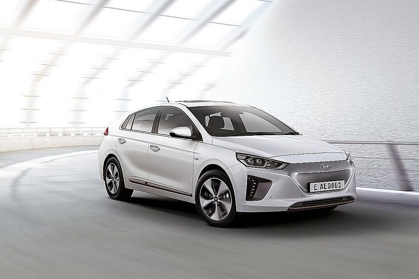Renault's Zoe Long Range (left) and Hyundai's Ioniq Electric (below) will be launched early next year.