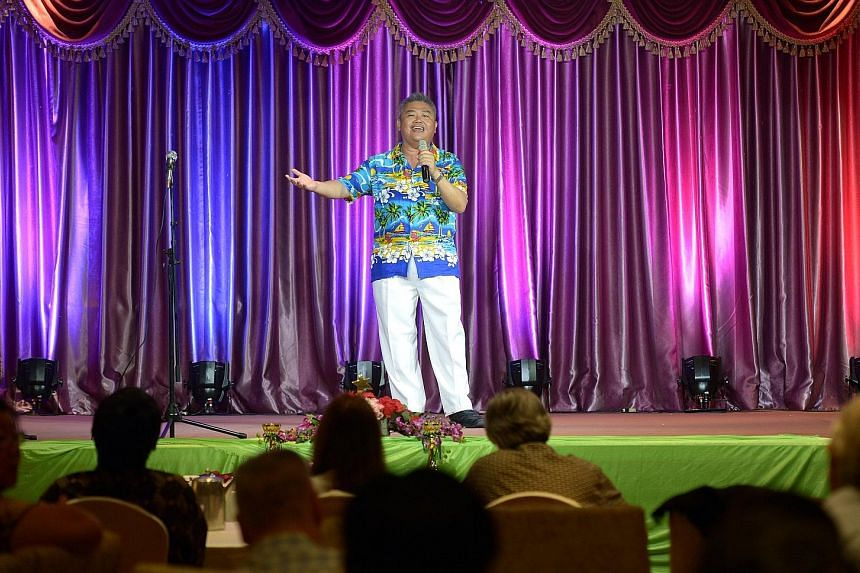 Mr Andrew Goh, 54, who sang Frank Sinatra's My Way, was among the 10 solo contestants and one group who vied for the top three spots in the finals of the inaugural Seniors Got Talent competition at Hotel Royal yesterday. The contest was organised by