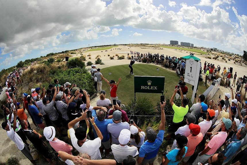 Tiger Woods teeing off in the Bahamas in his long-awaited comeback last month. Golf has sorely missed the American star and we hope to see more of his trademark fist pumps in 2018.