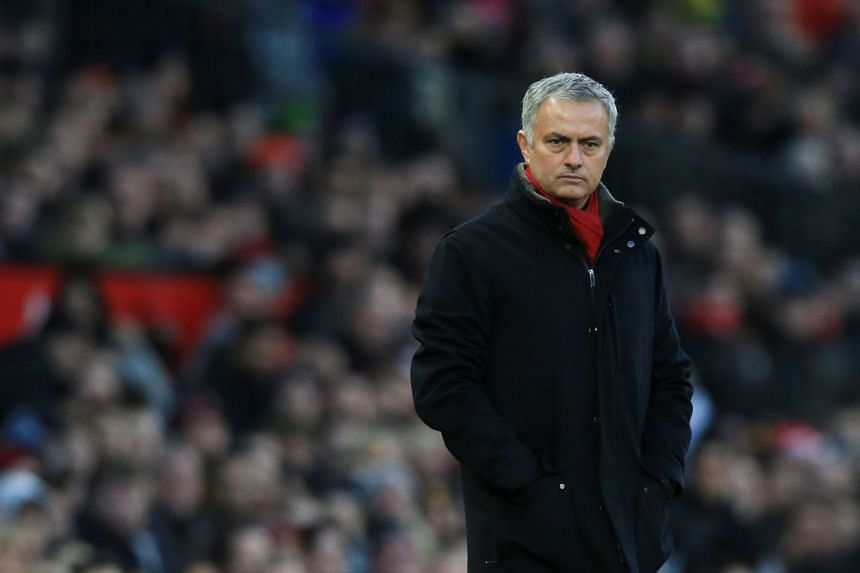 Manchester United's manager Jose Mourinho watches from the touchline during the match between Manchester United and Burnley, on Dec 26.