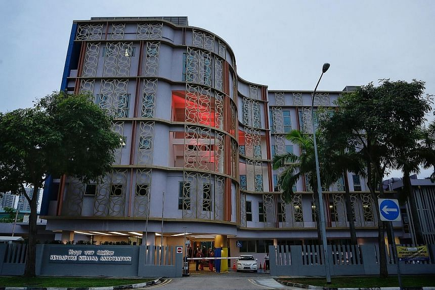 The facade (top) and rear view of the renovated Singapore Khalsa Association building after its $12 million makeover.
